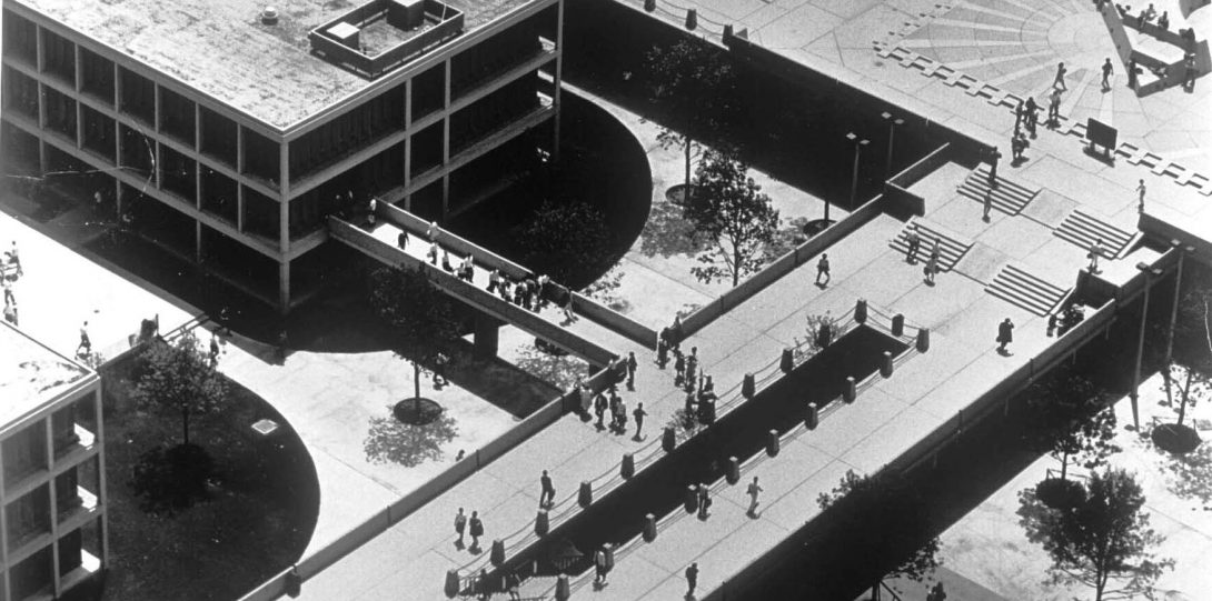 Circle Campus original walkways.