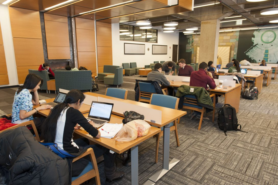 The Circle Campus Reading Room in the Daley Library.